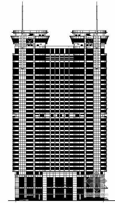 [潍坊]某三十二层办公楼建筑施工图