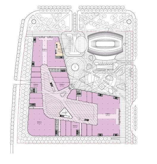 滨湖知名地产中心商务区超高层建筑设计方案平面图