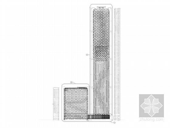 [天津]超高层框架钢结构航障灯墙面办公酒店综合体建筑施工图-超高层框架钢结构航障灯墙面办公酒店综合体建筑详图