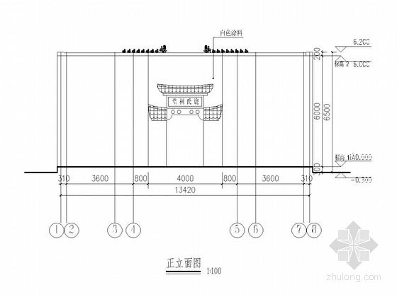 [江西]砖木混合结构仿古祠堂结构施工图(含建筑图)