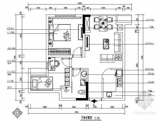 [重庆]简洁现代风格两居室样板房装修图(含效果)