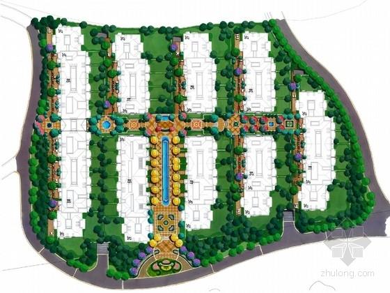 [杭州]法式风格高档别墅区景观规划设计方案
