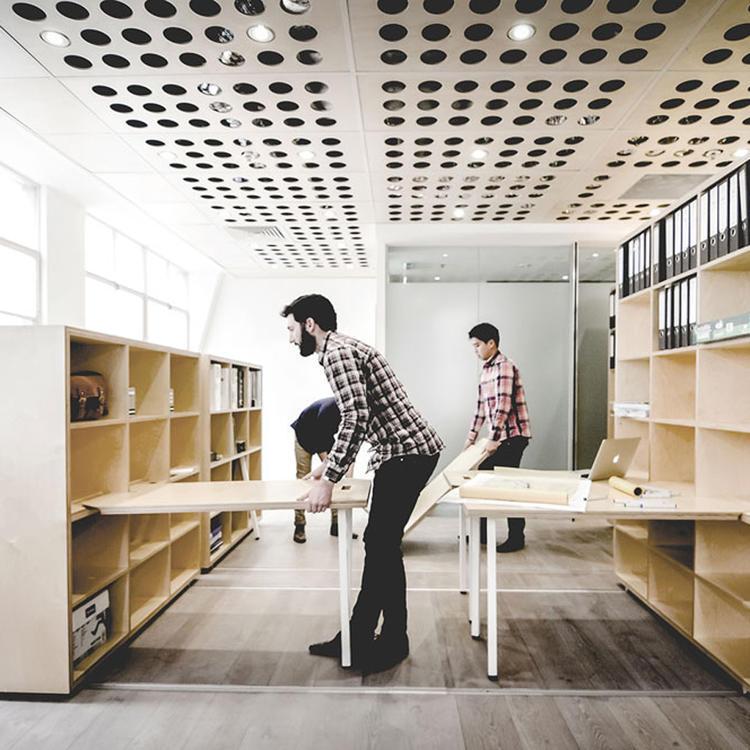 建筑师给自己设计的办公室,什么样的都有_23