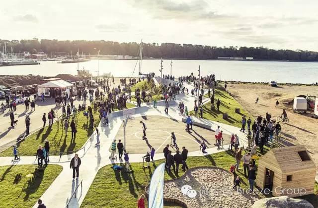"""莱姆维滑板公园-""""海港,并在流离失所的大部分沿海活动,已成为海上活动的剩余wastescape。由预想的 滑板+公园作为一个社交聚会的空间,将吸引所有年龄和兴趣的人,我们相信它可以成为一个催化剂 活化,将重新品牌的海滨作为一个娱乐中心,并重新引入海港城市的重要资产。"""" 说 EFFEKT的的MikkelBøgh。"""