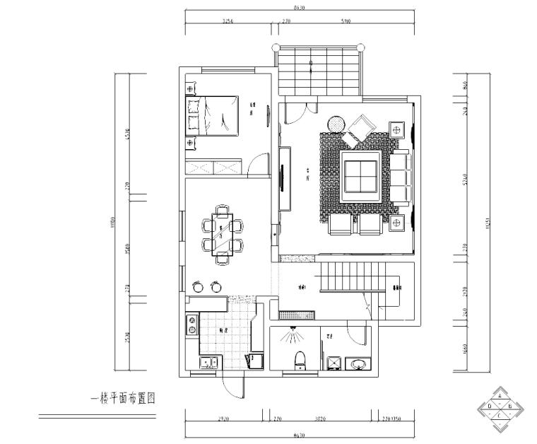 [广东]金源酒店后别墅三层经济型别墅室内装修施工图