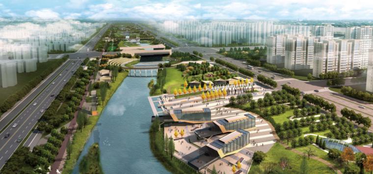 [河南]郑州梅河景观河道规划设计(PDF+128页)-效果图