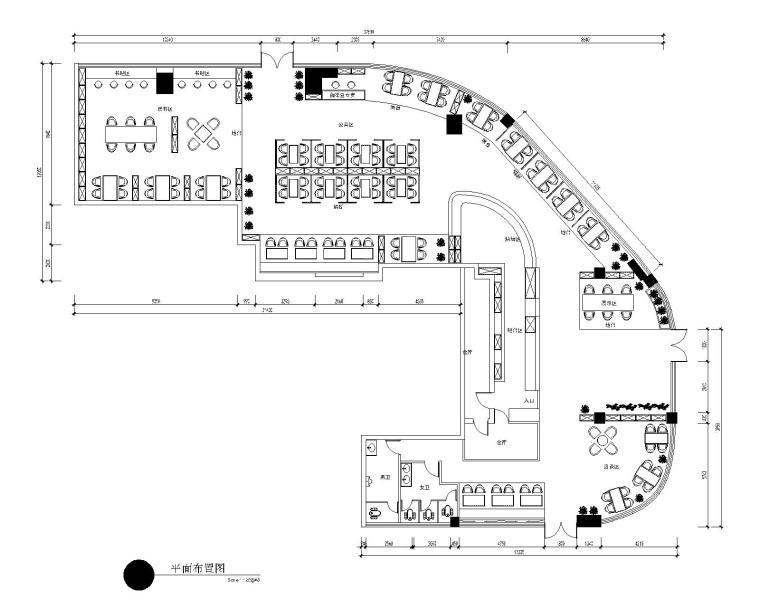 工业风·咖啡厅改造施工图+效果图