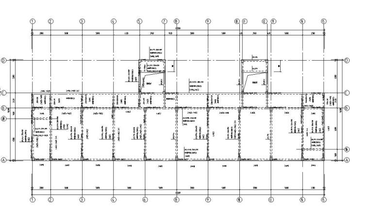 某六层框架教学楼建筑图结构图
