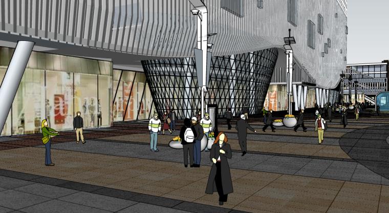 商业广场设计SU模型