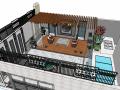 住宅精品现代风格庭院3d模型下载