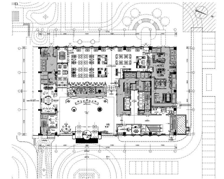 [黑龙江]CCD&万达设计院-哈尔滨诺富特酒店招标施工图+效果图