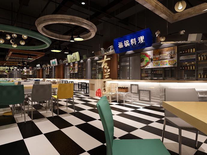 《美食城》-德令哈餐厅装修设计公司,德令哈餐厅设计公司
