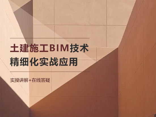 土建施工BIM技术精细化实战应用