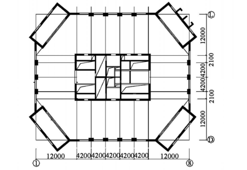 兰州国芳大酒店顶部大空间网架屋盖设计