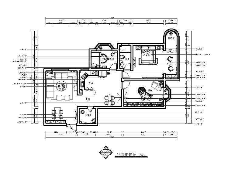 简约风格样板房设计施工图(含效果图)