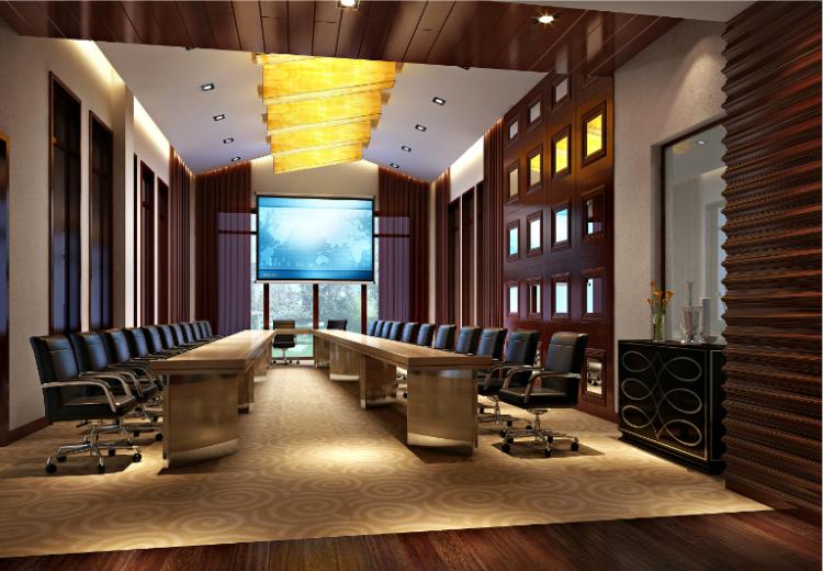 丁家山会所混搭风格(含效果图)-会议室效果图