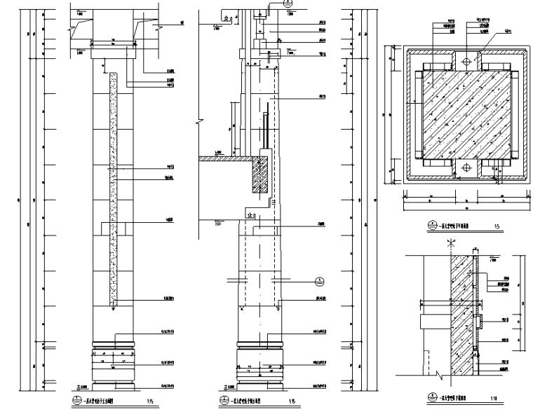 大堂装饰柱节点详图