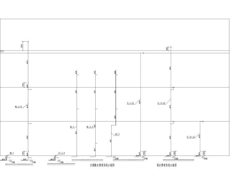 广西三层幼儿园给排水全套施工图