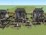 300平方米山地别墅建筑设计模型