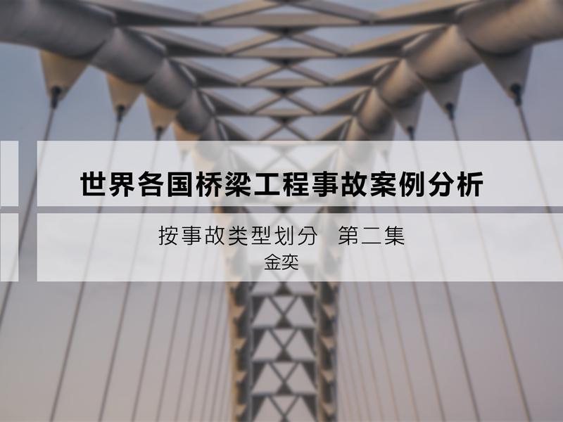 世界各国桥梁工程事故案例分析—按事故类型划分 第二集