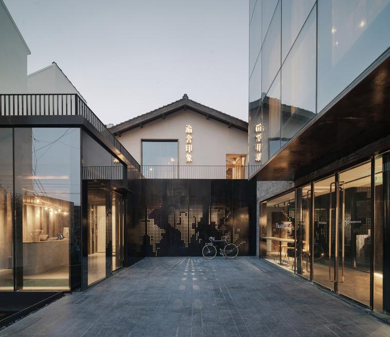 上海原招待所改造的新中式渝舍印象酒店
