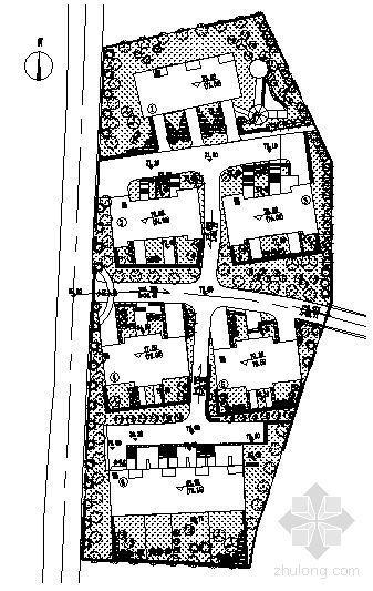 某别墅区种植平面图