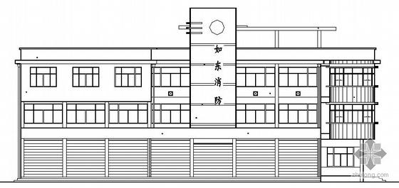 [江苏]某公安消防大队综合办公楼建筑施工图