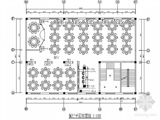 [内蒙古]现代酒店餐厅施工图(含效果)