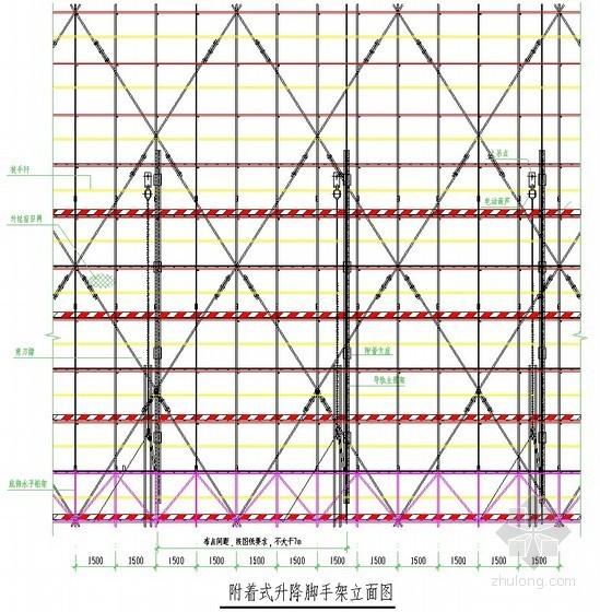 [广东]高层办公楼附着式升降脚手架施工方案