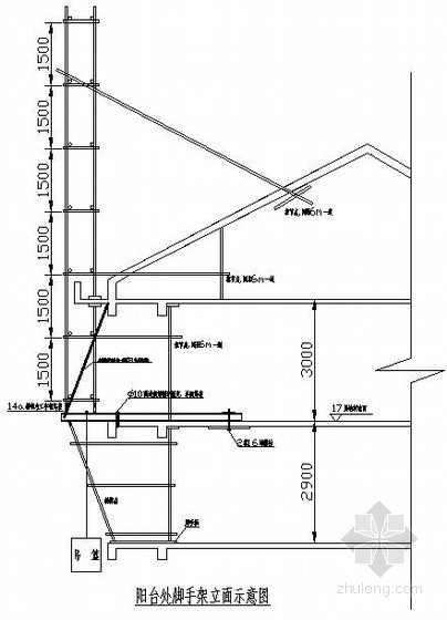 [天津]屋面悬挑脚手架施工方案(10米 2011年)