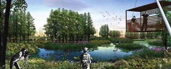 [美国]河滨城市修复景观设计方案-河滨城市景观效果图