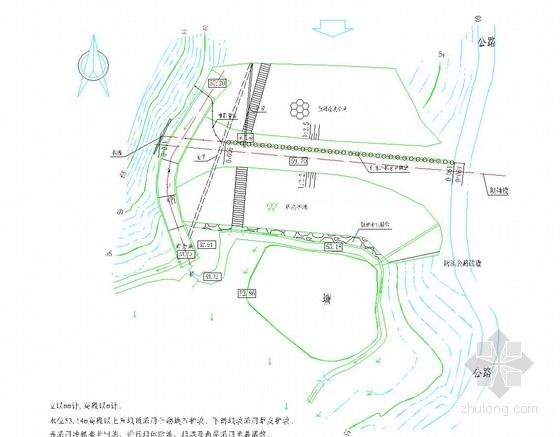 [湖南]小(二)型水库除险加固施工图(冲抓套井回填 帷幕灌浆)
