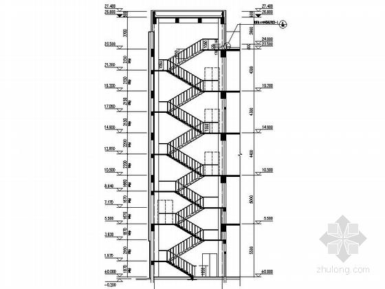 [上海]5层现代风格知名企业辅助厂房设计施工图(图纸精细值得参考)-5层现代风格知名企业辅助厂房局部节点详图