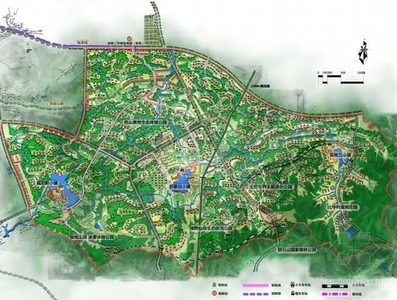 绿色生态旅游城规划总平面图