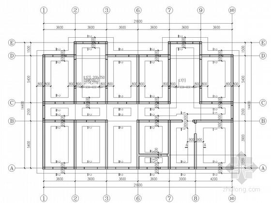 4层砌体中学学生宿舍楼结构施工图