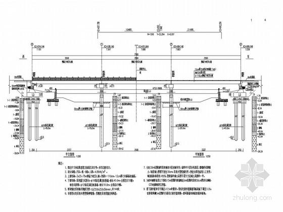 [浙江]城市后张法预应力混凝土简支空心板梁桥施工图设计45张