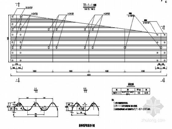 [湖北]开放式一级公路交通安全设施施工图全套72张(标志标线护栏防眩)
