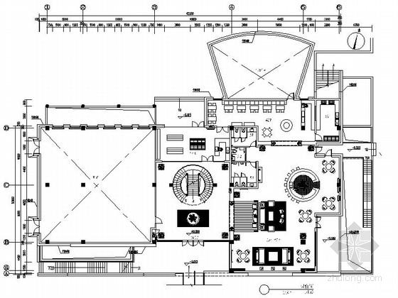 [江苏]某欧陆风格会所室内装修施工图(含效果)