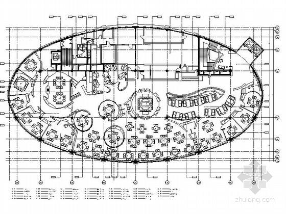 [上海]现代时尚现代风格餐厅室内装修施工图(含效果)