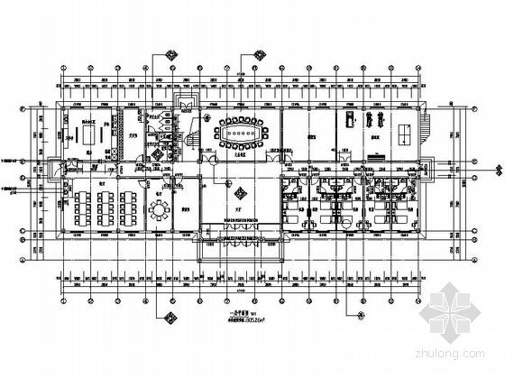 [四平]现代风格发电中心综合办公楼装修图(含效果)