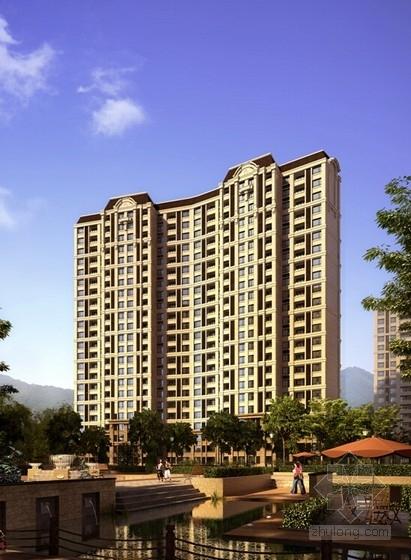 [山东]法式风格中高档住宅小区规划设计方案文本-法式风格中高档住宅小区规划效果图