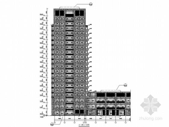 [合肥]20层产业园高层综合楼幕墙施工图(玻璃幕墙 石材幕墙 铝板幕墙)