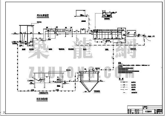 东莞市某镇污水厂设计总图纸