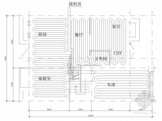 [山东]多层别墅地源热泵空调系统设计施工图(冷暖联供空调系统)