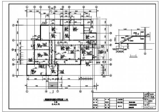 天津某俱乐部附属房结构图