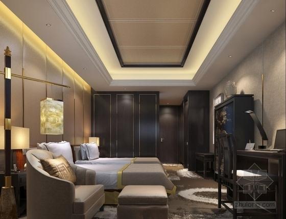 时尚会所标准客房室内装修效果图