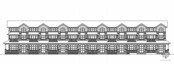 [上海]某三层联排别墅建筑施工图