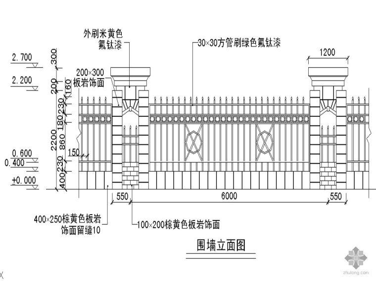 围墙栏杆CAD图集合集