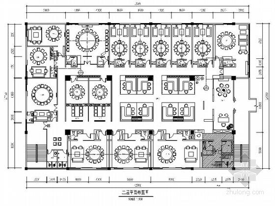 [广西]某中式时尚餐厅室内装修施工图(含实景)