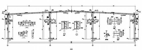 门式钢架轻型厂房结构施工图